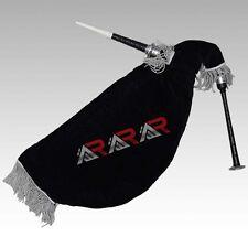 Brand New Scottish Goose Bagpipe Black Color Silver Mounts Black Velvet Bag