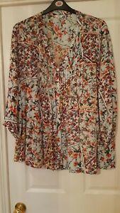 "Ladies Blouse ""Cotton Traders"" Size 24 Floral Blouse"