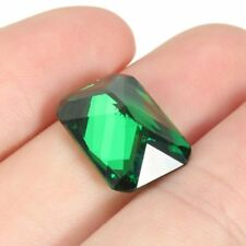 Unheated 10X14MM Green Sapphire Dazzling 9.08ct Diamond Emerald Loose Gemstone