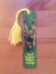 "Vtg 1980 ""Orangutan"" Monkey BOOKMARK Antioch Sunshine Thoughts 70's 80's RARE!"