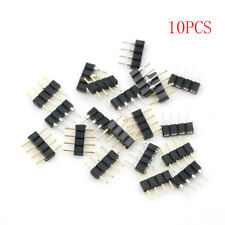 10pcs connector male type double 4pin for 3528 5050 RGB LED strip connector