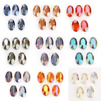 22mm 5pcs Oval Faceted Glass Crystal Spacer Loose Beads Fashion Jewelry Making