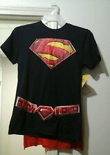 New with tags superman shirt with removable cape. mens 2XL.
