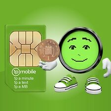 1pMobile 2G SIM card - pre-loaded £10 credit.  1p a minute, 1p a text.