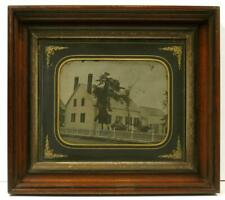 Very Large Close Up Ambrotype of a New England House with Beautiful Fence