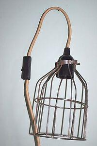 Vintage Industrial Pendant Steel Wire Cage Desk Lamp