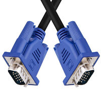 SVGA/VGA Monitor Male Cable Lead TRIPLE SHIELDED 15pin FULLY WIRED For HDTV