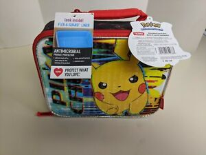 Thermos Pokemon Pikachu Lunch Box Tote with LDPE Liner New in Hand.