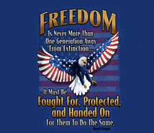 Freedom Must Be Fought For USN USMC USCG USAF Army Navy Marines Adult T-shirt