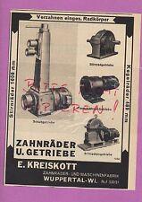 WUPPERTAL-WI, Werbung 1936, E. Kreiskott Zahnräder-Maschinen-Fabrik