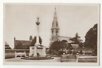 Cheam Church & War Memorial Surrey Vintage RP Postcard 891b
