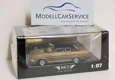 Neo 1/87 (H0): 87320 Volvo 262C Bertone (1981), goldmetallic/mattschwarz
