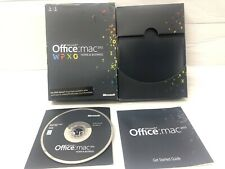 Microsoft Office 2011 Mac Home and Business 1 user 1 macs GENUINE NEW W6F-00063