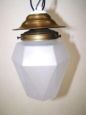 Schöne alte Hängelampe Art Deco, 20er Jahre Lampe Tropen Facettenform