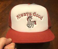 "Unicorn ""Always Good"" Embroidered Custom Mesh Foam Snapback Trucker Cap Hat NWT"