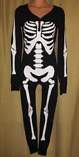 NEW PINK Victoria's Secret Pajama Long John Skeleton One Piece Small