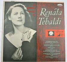 RENATA TEBALDI AN OPERATIC RECITAL RECORD LP