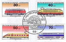 BRD 1975: Lokomotiven Jugend Nr 836-839 mit sauberem Bonner Ersttagsstempel 1601