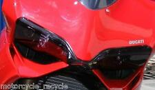 NEW POWERBRONZE HEADLIGHT PROTECTORS DARK TINT TO FIT DUCATI 1199 PANIGALE 2012