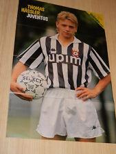 Q26 Poster Thomas Hassler Juventus retro Julio Cesar Juventus