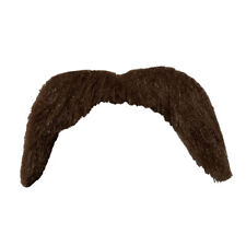 1970s Moustache Mens Ladies Fancy Dress Accessory Instant Tash