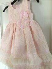Isobella and Chloe Girls Pink Stitched Ribbon And Ruffle Dress Sze 12M-New