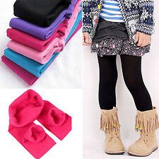 3-12Y Kids Children Girls Winter Warm Full Length Leggings Party Thick Pants BSN