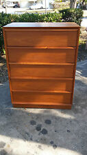 Mid Century Modern TEAK 5 drawer Made in Denmark tall dresser from SCAN DESIGN