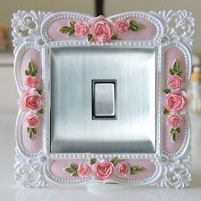 Gorgeous Resin Single Light Switch Surround Socket Finger Plate Panel Cover, T3