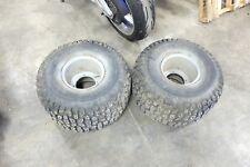25 x 12-9 ATV 4 four wheeler Turfbuster rear back wheels rims and tires 25 12 9