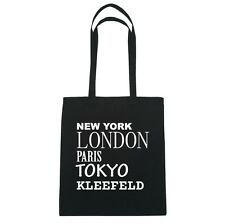 New York, London, Paris, Tokyo CLOVER FIELD - Jute Bag Bag - color: black
