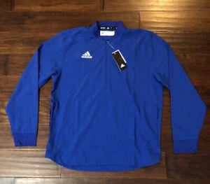 Adidas Men's LS 1/4 Zip Pullover Athletic Jacket Sz. S NEW FQ1687