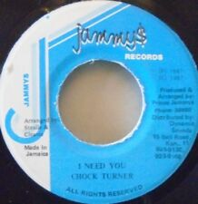 "CHOCK TURNER - I Need You - 7"" Single JA PRESS"