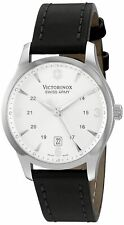 Victorinox Swiss Army Men's 249034 Alliance Silver Dial Black Leather Watch