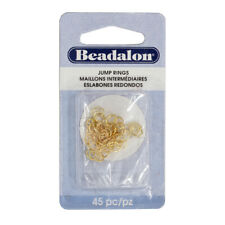 Beadalon® Oval Shape Open Jump Rings 4.5x6mm Gold Color 45 pieces