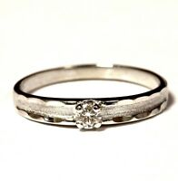 10k white gold .13ct SI1 H round diamond solitaire engagement ring 1.9g