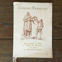 Programma Di Gala Commedia Francese Monumenti Alla Gloria Di Fanteria 1939