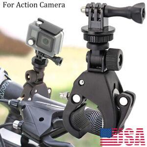 Bike Handlebar Mount Holder Clamp For Gopro Hero 5 4 3+ 3 2 1 Action Camera 1/4