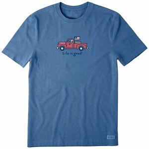 Life Is Good Mens  Patriotic Pick Up T-Shirt