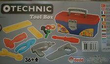 DEDE CHILDRENS POWER TOOL BOX WITH 12 TOY TOOLS - BRAND NEW BOXED