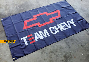 Team Chevy Flag 3x5 ft Banner Chevrolet Racing