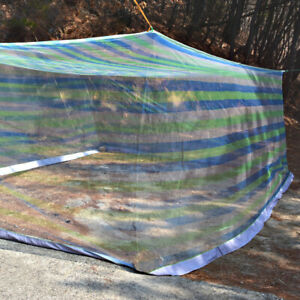Extra Large size blue pattern Mosquito Fly Net Indoor Outdoor Camping 4m(13ft)