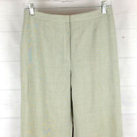 Ann Taylor LOFT womens size 6 gray flat front mid rise lined tapered dress pants