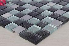 Azulejos de Mosaico Vidrio cristal aluminio plata púrpura NUEVO