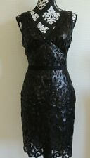 BCBG MaxAzria dress size M Gabrielle sequined lace knee length GORGEOUS!