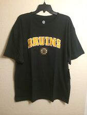 NHL. Boston Bruins Embroidered Black Cotton Tshirt. Size XL