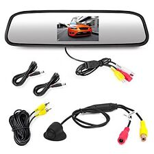 Pyle PLCM4340 Car Vehicle Rearview Backup Camera & Mirror Monitor Parking...