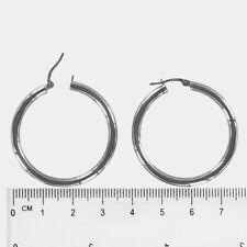 Pendientes de joyería de metales preciosos sin piedras de oro blanco
