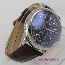 42mm Debert Schwarz dial Silber Hands Automatisch movement Uhr Mens Watch