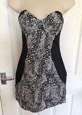 ASOS ladies summer strapless print dress size 12
